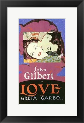 Framed Love John Gilbert Greta Garbo Print