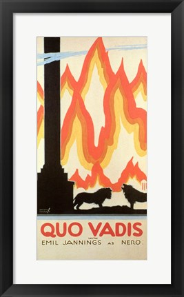 Framed Quo Vadis - fire Print