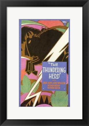 Framed Thundering Herd Print