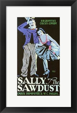 Framed Sally of the Sawdust Print