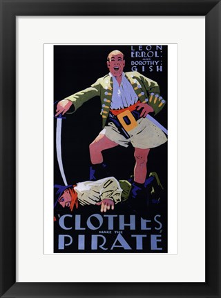 Framed Clothes Make the Pirate Print