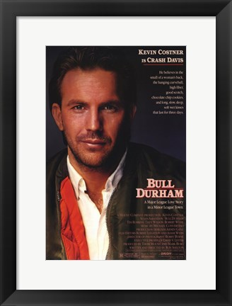 Framed Bull Durham Kevin Costner is Crash Davis Print