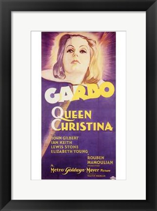Framed Queen Christina Garbo Print