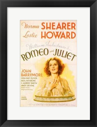 Framed Romeo and Juliet Shearer & Howard Print