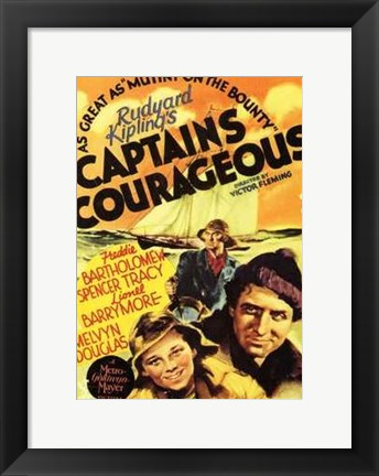 Framed Captains Courageous - Yellow Print