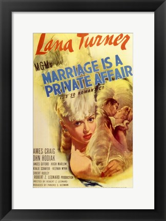 Framed Marriage is a Private Affair Print