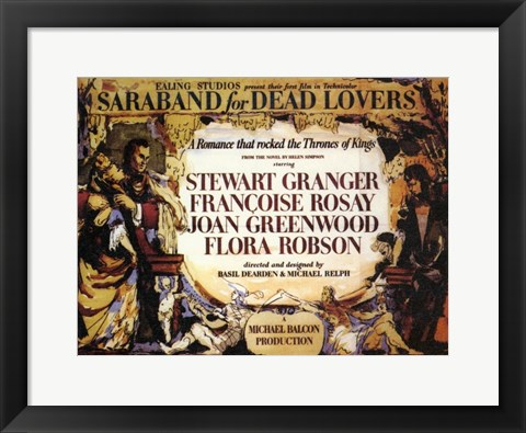 Framed Saraband for Dead Lovers Print