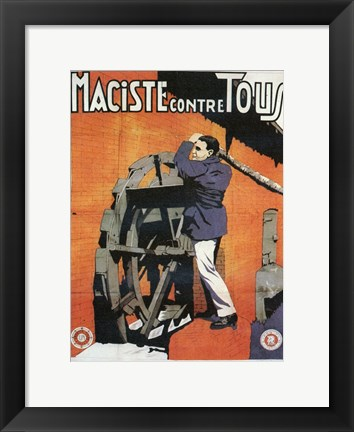 Framed Maciste Contre Tous Print