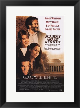 Framed Good Will Hunting Robin Williams Print