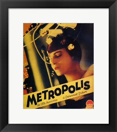 Framed Metropolis Yellow Print