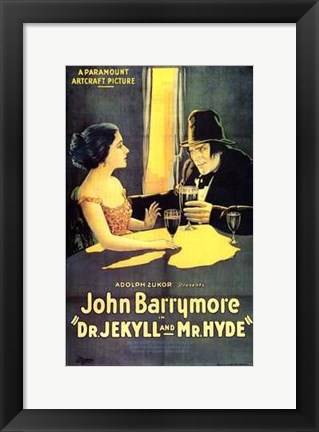 Framed Dr Jekyll and Mr Hyde John Barrymore Print