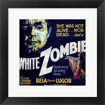 Framed White Zombie - square Print