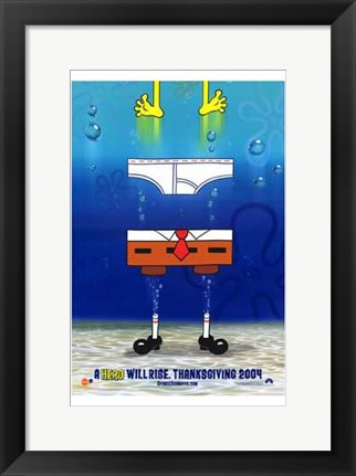 Framed Spongebob Squarepants Movie Pants Print