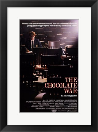 Framed Chocolate War Print
