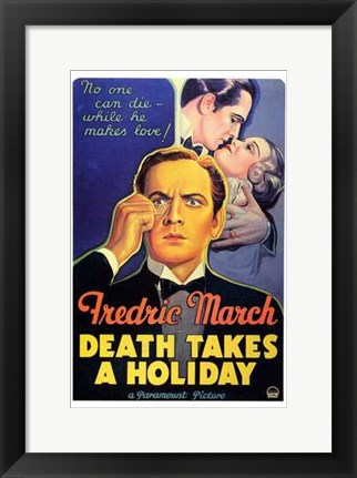 Framed Death Takes a Holiday Print