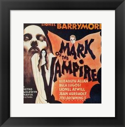 Framed Mark of the Vampire - Lionel Barrymore Print