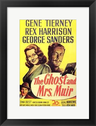 Framed Ghost and Mrs Muir movie poster Print