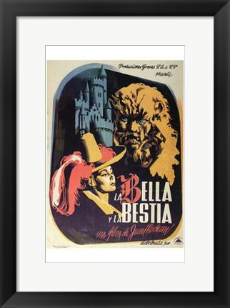 Framed Beauty and the Beast - Spanish Print
