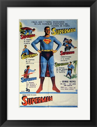 Framed Superman Classic (Spanish) Print