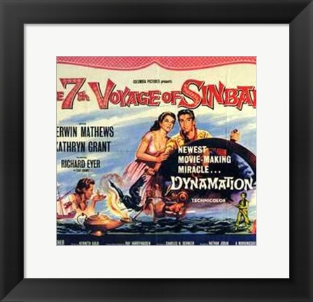 Framed 7Th Voyage of Sinbad Print
