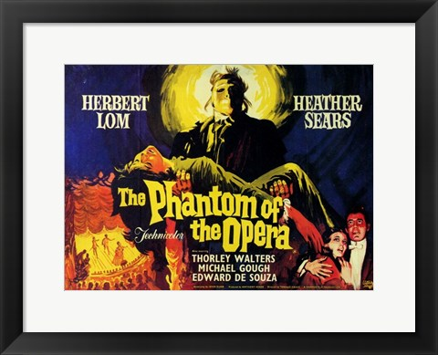 Framed Phantom of the Opera, c.1962 - style A (foreign) Print