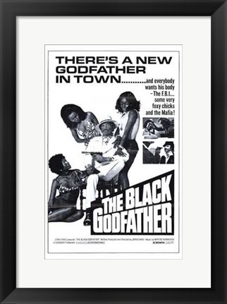 Framed Black Godfather Print
