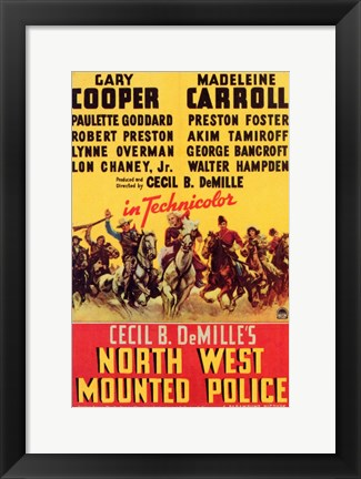 Framed North West Mounted Police Print