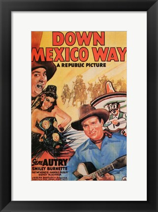 Framed Down Mexico Way Print