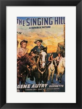 Framed Singing Hill Print