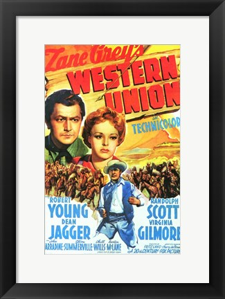Framed Western Union - movie cover Print