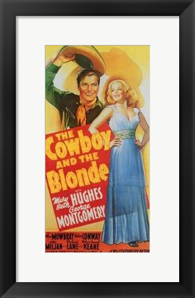Framed Cowboy and the Blonde Print