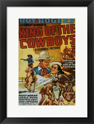 Framed King of the Cowboys Print