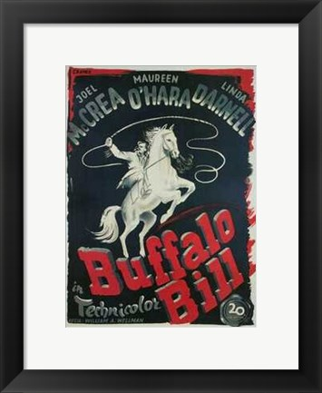 Framed Buffalo Bill Print