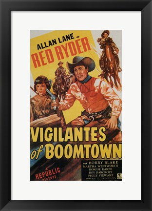 Framed Vigilantes of Boomtown Print
