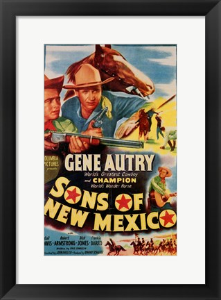 Framed Sons of New Mexico Print