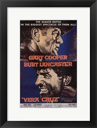 Framed Vera Cruz movie poster Print