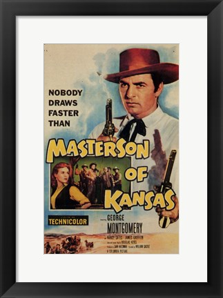 Framed Masterson of Kansas Print