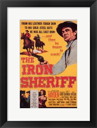 Framed Iron Sheriff Print