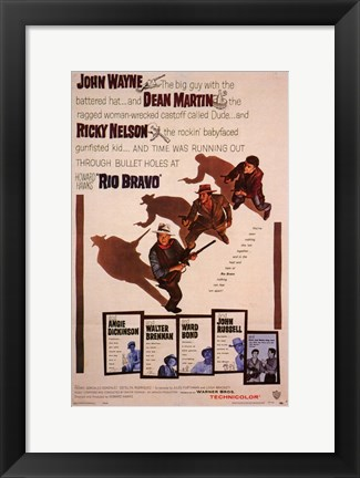 Framed Rio Bravo - characters Print