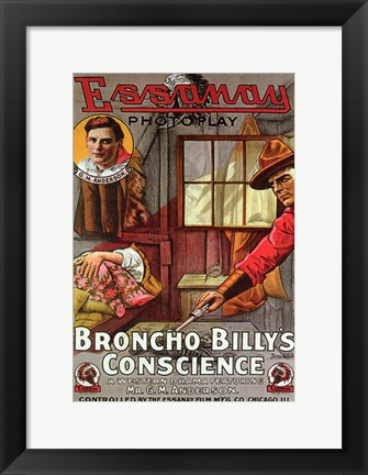 Framed Broncho Billy's Conscience Print