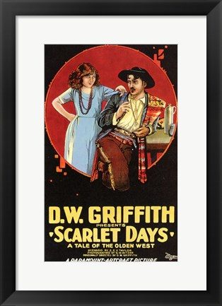 Framed Scarlet Days Print