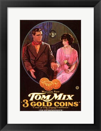 Framed 3 Gold Coins Print