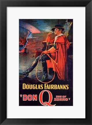 Framed Don Q Son of Zorro Print
