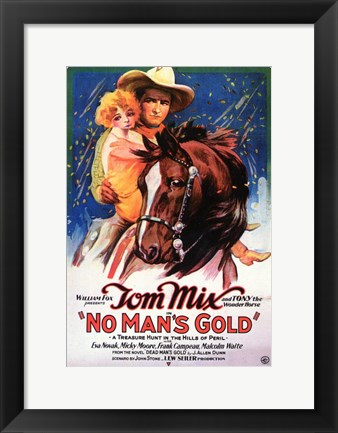 Framed No Man's Gold Print