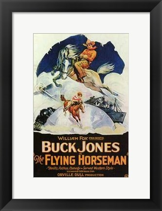 Framed Flying Horseman Print