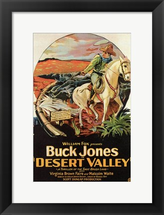 Framed Desert Valley Print