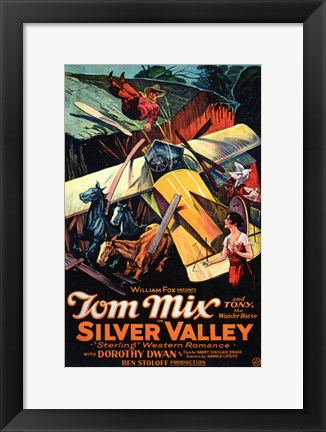 Framed Silver Valley Print