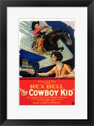 Framed Cowboy Kid Print