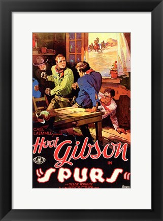 Framed Spurs Movie Print