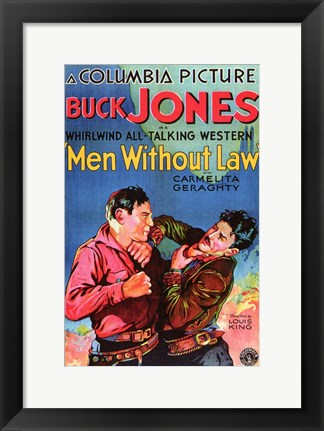 Framed Men Without Law Print